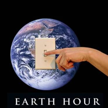 Earth Hour - Finger on light switch